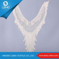Modèle de conception personnalisée de gros collier de la dentelle de coton bio