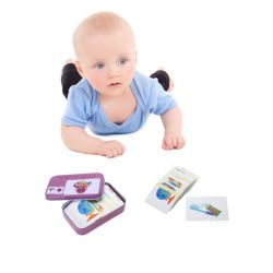Baby Kids Educational Cognition Puzzle Toys Toddler Box Cards Matching Game