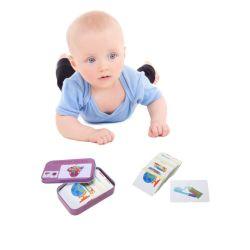 A cognição educacionais para crianças bebé Puzzle brinquedos para bebês (Cartões da Caixa de jogo de correspondências