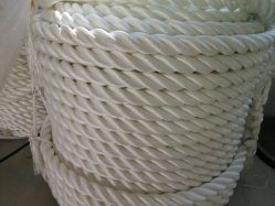 "نيلون حبل 3 طاق مرساة/لازم خطّ 1/2 "" [إكس] 200 ' حبل أبيض"