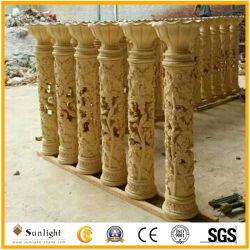 Bon marché de l'art de décoration de jardin pilier Sculpture de grès