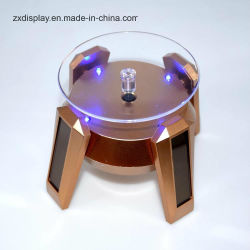 LED 빛을%s 가진 태양 에너지 반대 전시 테이블 보석 자전 대
