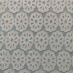 Stof van het Kant van de polyester de Netwerk Geëtstec uit het bijeenkomen Gebreide