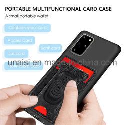 Teléfonomóvil caso Sticker Autoadhesivo Titular de Tarjeta de cuero de PU