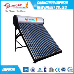 Pequeno aquecedor solar de água independente
