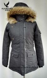 防水通気性の羽毛および冬の女性服の服装