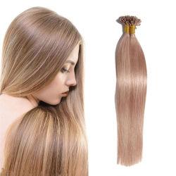 La mejor calidad de bonos u Clavo Punta Pre Secador de pelo humano Remy recta extensión real brasileño el cabello natural