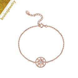 Искусственные золотых ювелирных изделий моды производителя ювелирных изделий Custom 925 серебристые очарование браслет с алмазной