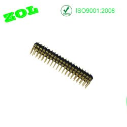 2.54 Connettori di Pin ad angolo retto di Pin Pogo di righe doppie 2X20 del passo