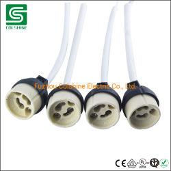 Gz10 GU10 de halógeno de porcelana Lampbase portalámparas de cerámica