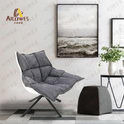 Presidenza del sofà di svago del salotto del piedino del ferro del nero della sede del tessuto della mobilia del metallo della camera da letto