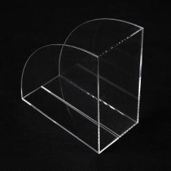 Benutzerdefinierte Größen Tabletop Acryl Kunststoff Bookends Broschüre Zeitschriften Display Halter