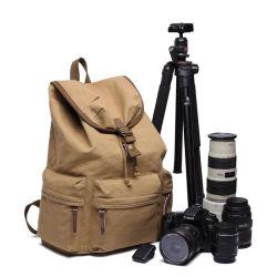 カジュアルレトロアンチセフトファッションアウトドアトラベルキャンバスカメラバックパックバッグ