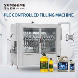Salsa de aceite bebidas automático de pistón champú líquido Embotellado tapadora máquina de etiquetado de línea de equipos