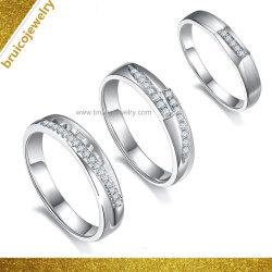 인공적인 보석 형식 925 결혼식을%s 다이아몬드를 가진 은 남자 반지 9K 14K 18K 금 보석