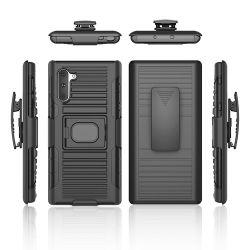 Pour Samsung Note 10 cas résistant aux chocs disque hybride PC 2en1 Téléphone cas, la couverture arrière mobile pour Samsung Galaxy Note 10 cas béquille
