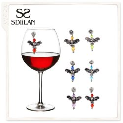 Monili classici degli accessori di vetro di vino della decorazione del partito di modo