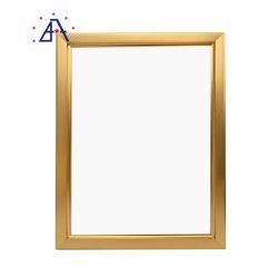 Venda por grosso de ligas de alumínio A4 Photo Frame, Gold Molduras de alumínio em metal escovado