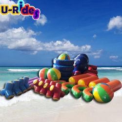 Горячий играть в игры в бассейне надувных игрушек воды в крытый бассейн