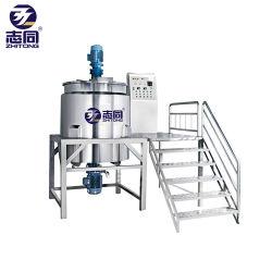 Sciampo del sapone liquido che fa la macchina mescolantesi del miscelatore