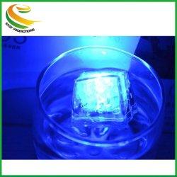 색상 노블티 가젯 LED 각얼음 조각 선명한 얼음 장식 LED 루미너스 플래시 아이스