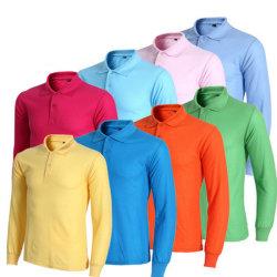 Повседневный длинной втулки органа установите рубашки поло школе единообразных рубашки поло