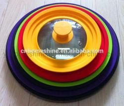 Multi размер цвет Pot стеклянной крышкой на складе с помощью силиконового уплотнительного кольца