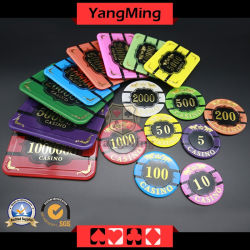 Crystal Chips de póquer com Tiger Image Gambling Casino Chips (YM-CP020-21)
