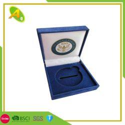 中国の製造業者カスタム多彩なメダル硬貨の宝石類の表示パッキングギフトの記憶のビロードボックス(05)