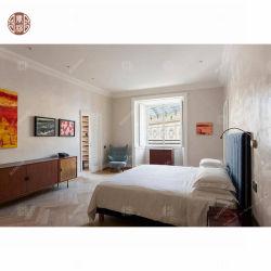 Hout van de Slaapkamer van het Meubilair van de Zaal van het Bed van het Hotel van de Fabriek van Foshan het Vastgestelde Stevige