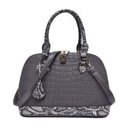 رفاهية نمط [رترو] 100% [جنوين لثر] نساء قشرة قذيفة حقيبة إشارة تصميم تمساح أسلوب بقرة جلد حقيبة يد حمّاض