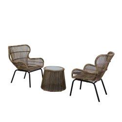Corda di alluminio del blocco per grafici tessuta pranzando la mobilia esterna stabilita del patio della mobilia