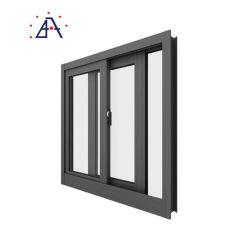 Het gemakkelijke Venster van het Glas van het Aluminium van de Verrichting Glijdende