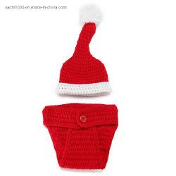 Kundenspezifische Baby-Häkelarbeit-Hut-Hand Knitted Weihnachtshut