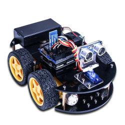 4WD Carro do Robô Automóvel Inteligente Starter Kit de Aprendizagem - Robô programável bricolagem para Arduino