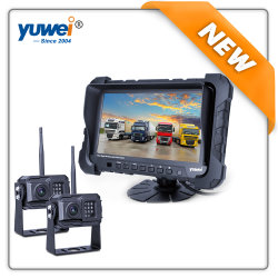 Nuevo y HD 720p Dual inalámbrica digital espejo autobús/coche/Sistema de cámara de la carretilla con Popular Venta de Monitor TFT de 7 pulg.