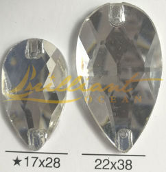 Water drop Crystal Glass kralen Spitte Back Rhinstones voor Garment Accessoires
