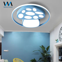Forme de champignon coloré rose jaune bleu LED lampe de plafond pour les enfants de lumière pour les enfants de la chambre