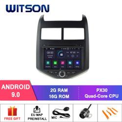 De vierling-Kern van Witson Androïde GPS van de 9.0 Auto DVD voor Chevrolet Aveo/Sonische Functie 2011-2014 Ingebouwde DVR met Externe Camera