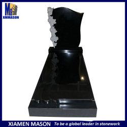 Nouveau design de style en Afrique du Sud de la Chine Monuments commémoratifs de granit noir avec Angel sculpture en pierre