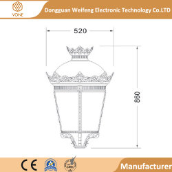 Pfosten-Spitzenkronen-Licht für Landhaus-Fabrik-Preis mit erstklassiger Qualität