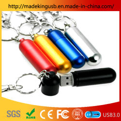 محرك أقراص USB محمول معدني من نوع CYlindrical Bullet / Capsule