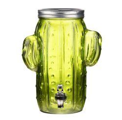 Erogatore a forma di della bevanda del cactus di vetro con il coperchio e lo zipolo dell'ABS