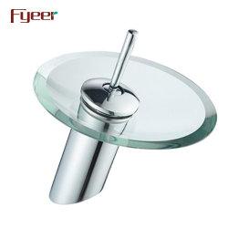 Fyeer одиночный рычаг раунда стекло водопад в ванной комнате под струей горячей воды