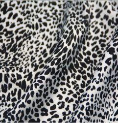 Stof van de Chiffon van het Satijn van het Af:drukken van de Luipaard van de polyester de Digitale voor de Kleding van Vrouwen