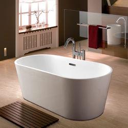 Африке рынок высококачественной акриловой отдельно стоящая ванна глубокая душ в ванной комнате 1.5m (Q163)