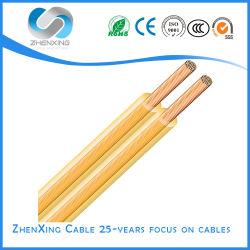 Núcleo duplo de cobre Spt cabos PVC insultados Fio eléctrico paralelo para lâmpada LED