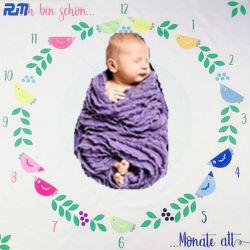 Têxteis coloridos Dia Mês Ano recém-fundo da fotografia Velo de poliéster Manta de bebé
