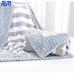 80X100cmポリエステルファブリック二重層動物プリント羊毛の赤ん坊毛布