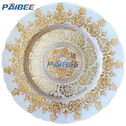Lastra di vetro di Paibee che intaglia gli accessori caldi del piatto di cerimonia nuziale del piatto di pranzo dell'articolo da cucina del caricatore della radura di vendita